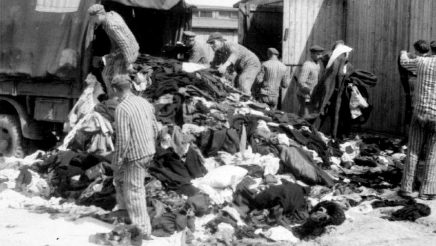 Oddíl Kanada na snímku pořízeném příslušníky SS v květnu 1944. Zdroj: Muzeum Yad Vashem/Wikimedia Commons