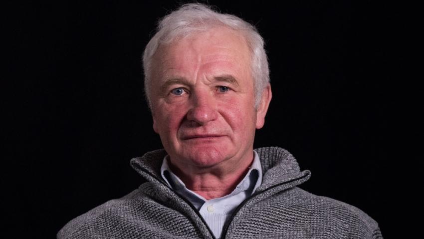 Václav Dašek při natáčení pro Paměť národa v roce 2019.