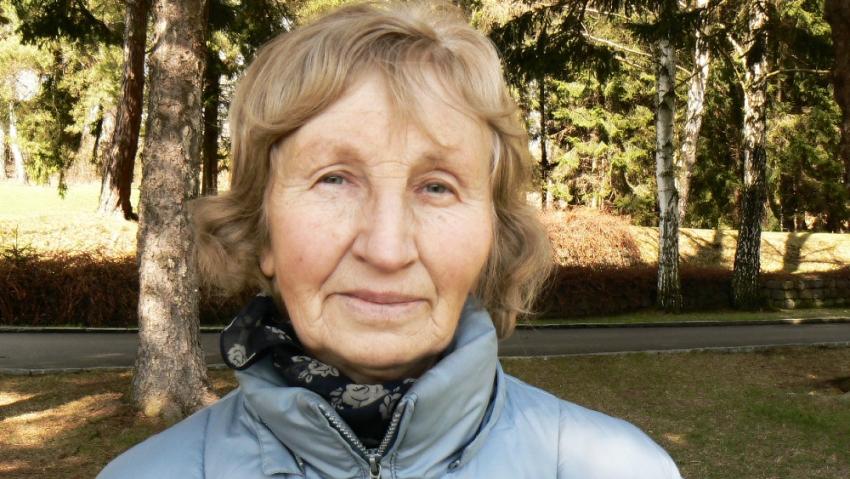 Marie Doležalová v Ležácích.