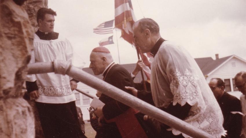 Petr Esterka doprovázel v roce 1966 kardinála Berana na cestách po USA. Foto: Paměť národa