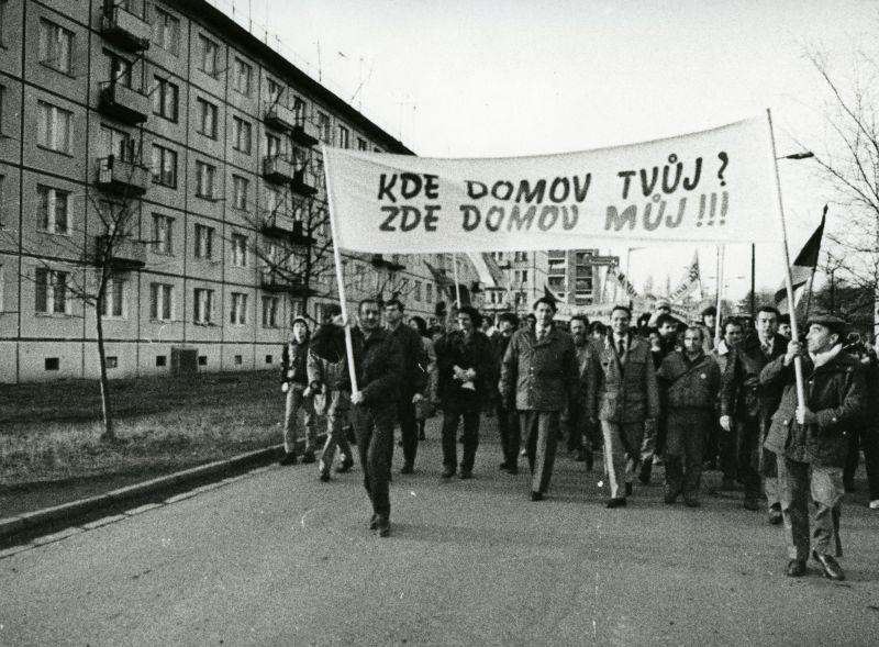 Ve vysokém Mýtě se stal odchod okupantů stěžejním tématem sametové revoluce. Zdroj: Regionální muzeum ve Vysokém Mýtě