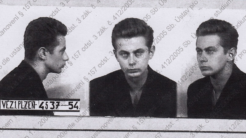 Miroslav Froyda, 1954, fotografie z vyšetřovacího spisu ABS. Zdroj: Post Bellum