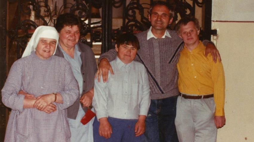 František Lízna v 80. letech v sociálním ústavu v Borotíně. Foto: Paměť národa
