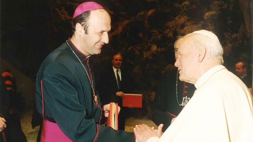 Jan Graubner s papežem Janem Pavlem II.Zdroj: archiv pamětníka