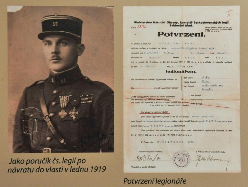 Heliodor Píka jako legionář v první světové válce. Foto: ČTK