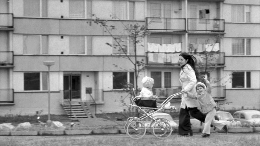 Hradec Králové v době normalizace: sídliště Labská kotlina II. v roce 1976. Foto: ČTK/Jiří Šourek