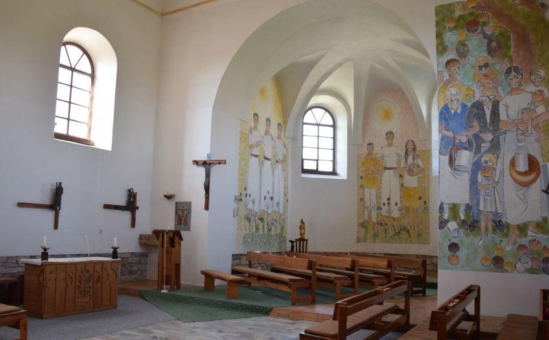 Interiér kostela sv. Jana a Pavla v Mistrovicích, Foto: Iva Marková