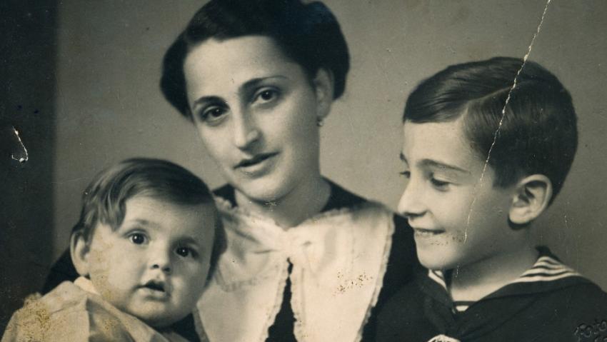 Ivan Lefkovits, Alžběta Lefkovitsová, Pavel Lefkovits v roce 1938. Foto: Paměť národa