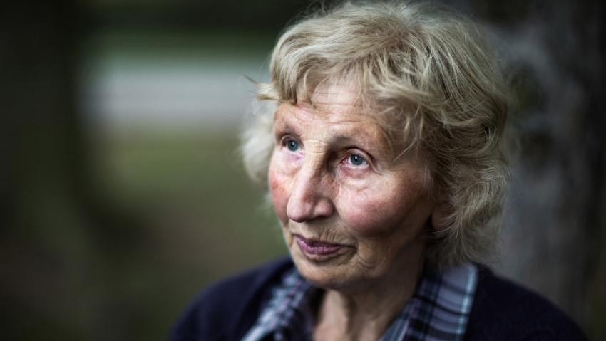 Jarmila Doležalová rozená Šťulíková je poslední přeživší z Ležáků. Foto:Tomáš Kubelka