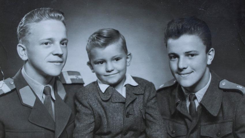 Jindřich (vlevo) a jeho bratři. Foto: Paměť národa