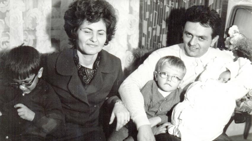 Jozef Babiak s rodinou. Zdroj: Archiv pamětníka