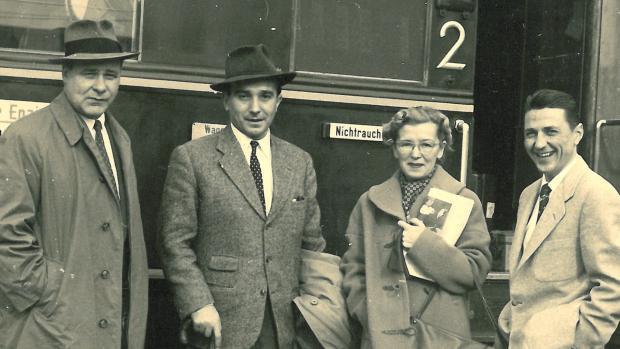 Jedna z mála fotografií Miloše Knorra ve Vídni.