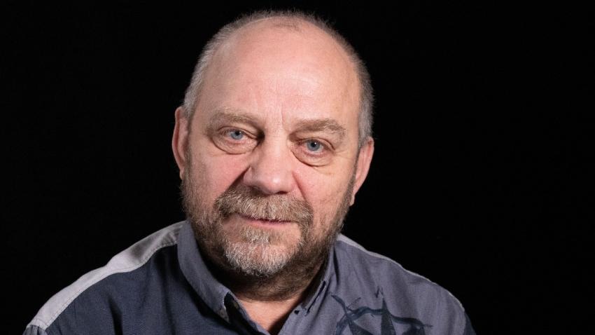 Jiří Kotek při natáčení pro Paměť národa v roce 2019. Foto: Post Bellum