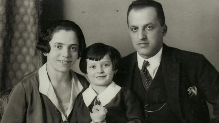 Rodiče Augusta a Pavel se starší sestrou Trudou. Všichni byli zavražděni v Osvětimi. Foto: Paměť národa