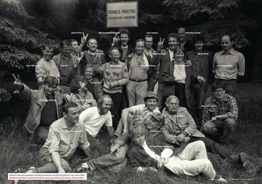Setkání disidentů na Králickém Sněžníku 10. července 1988.