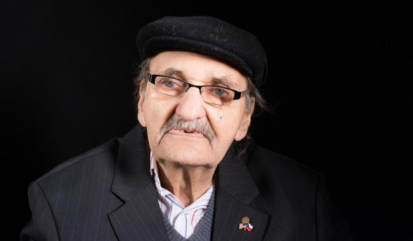 František Lederer při natáčení pro Paměť národa v roce 2017. Foto: Paměť národa