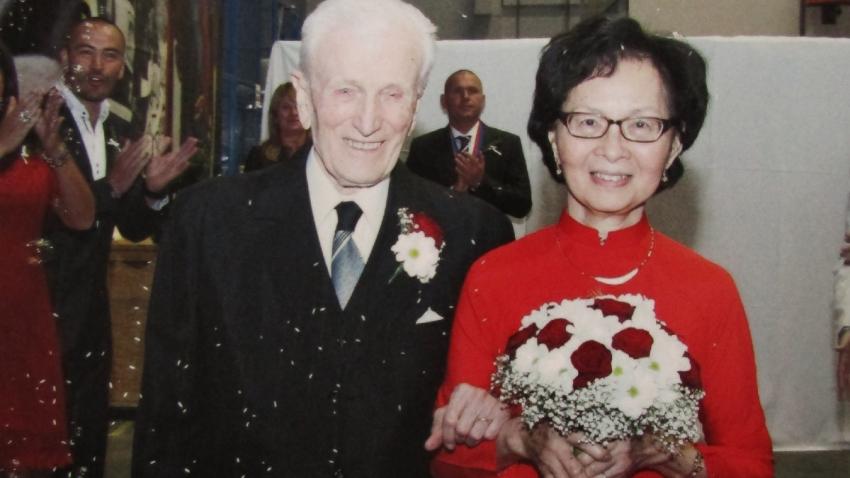 Nhung s Vladimírem. Prožili spolu 61 let. Foto: Paměť národa