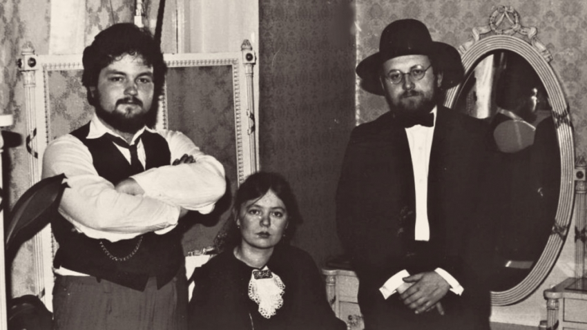 Eduard Vacek v počátcích Patafyzického kolegia v první polovině 80. let. Foto: Paměť národa