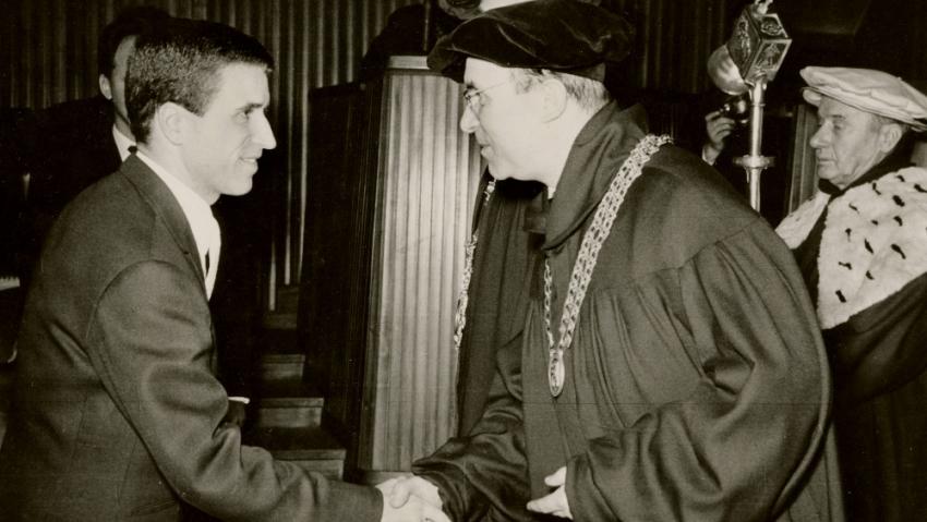 Promoce Ivana M. Havla na ČVUT v roce 1966. Foto: archiv Ivana M. Havla