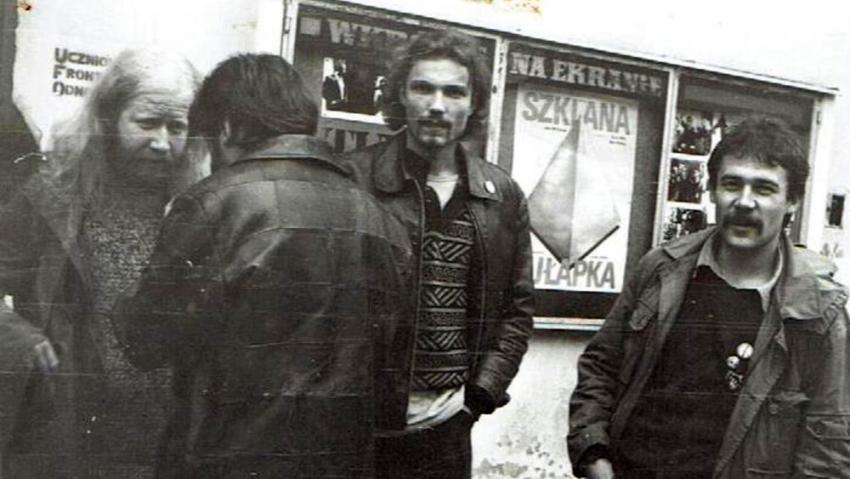 Radomír Daněk s kamarády na festivalu ve Wroclawi.