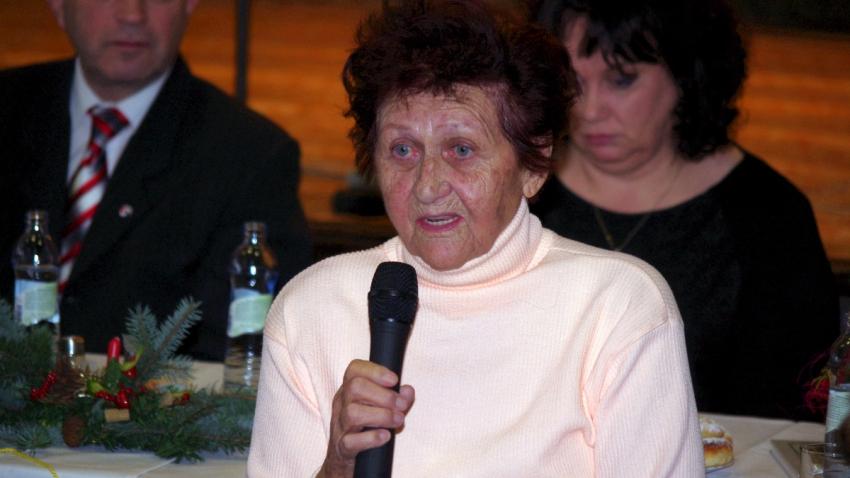 Venuše Štefková vzpomíná na stanný soud u příležitosti jeho 70. výročí 14. prosince 2014.