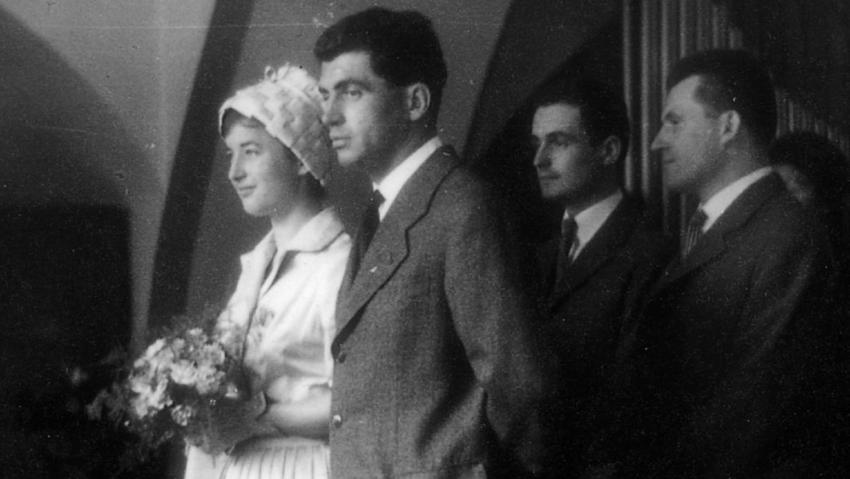 Svatební foto z 19. srpna 1960.