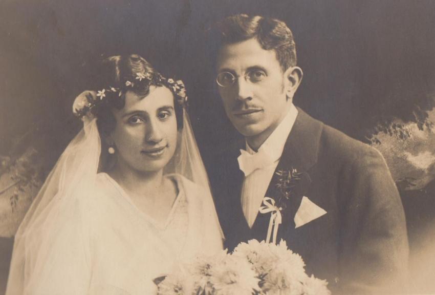 Svatební foto rodičů Jiřího Světlíka. Zdroj: Paměť národa
