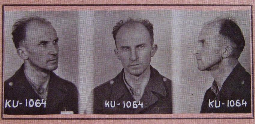 Tomáš Sedláček na vězeňské fotografii z roku 1952. Zdroj: Paměť národa