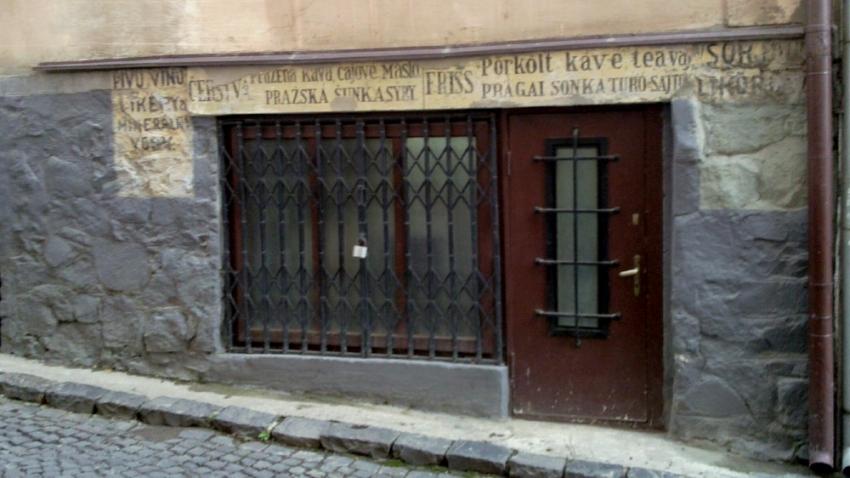 Zachované nápisy v češtině a maďarštině v Užhorodě. Foto: Wikimedia Commons
