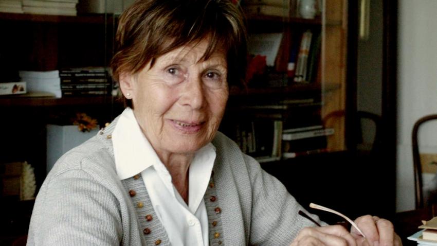 Eva Merclová při práci pro Svaz bojovníků za svobodu.