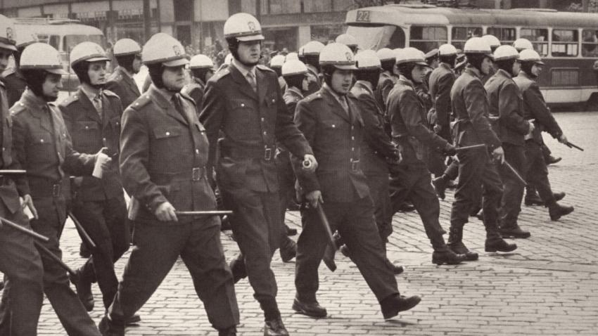 Výprask dostal v srpnu 1969 každý, kdo se pohyboval v centru Prahy. Foto: Jiří Všetečka
