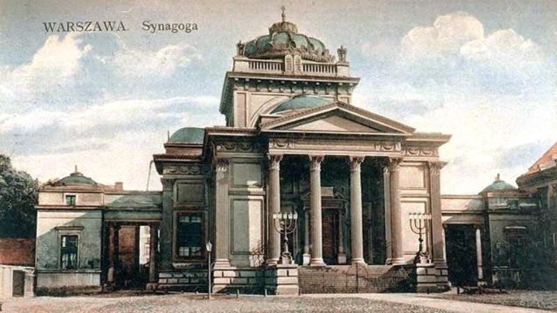 Velká varšavská synagoga zničená na závěr povstání. Foto: Wikimedia Commons/Public Domain