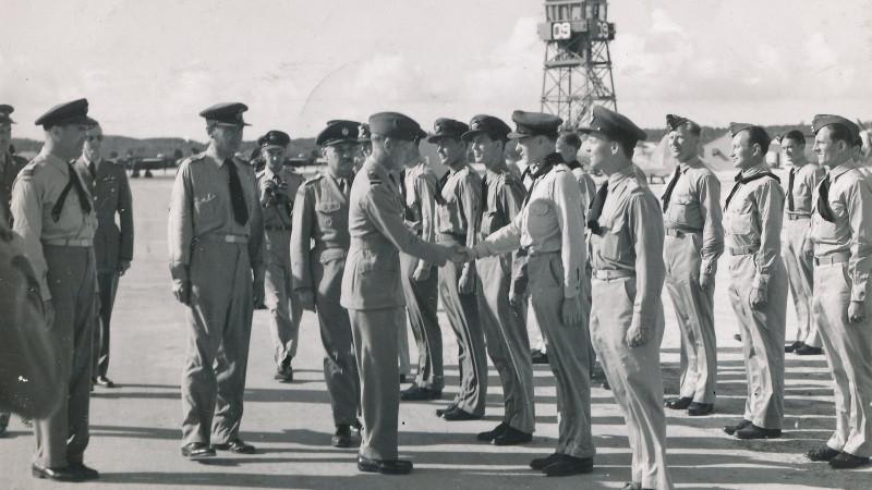 Nástup československé jednotky na Blízkém východě, kam se Jan Perl dostal v dubnu 1941. Foto: Paměť národa/archív Pavla Vranského