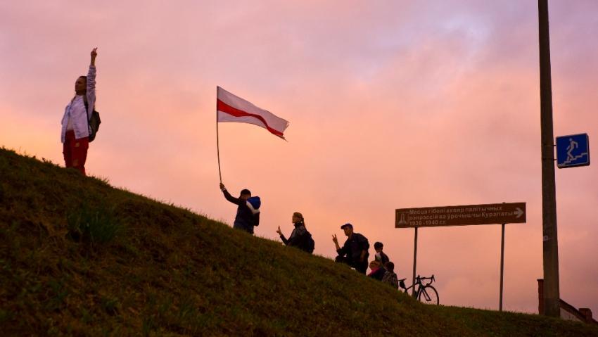 Bělorusové se nevzdávají, v protestech pokračují i v zimě. Foto: Dmitrij Drozd
