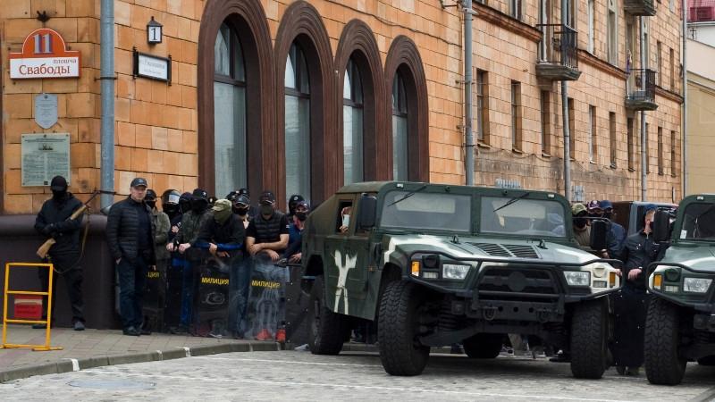 Policejní masakry v Bělorusku pokračují, uvedla na začátku prosince pro Českých rozhlas Svjatlana Cichanouská, hlavní opoziční kandidátka na prezidentku Běloruska ve volbách roku 2020, která se hned po volbách uchýlila do Litvy. Foto: Dmitrij Drozd