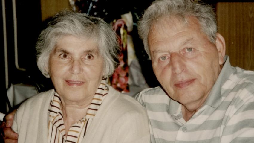 Zuzana a Miloš v roce 1999, 50 let po své svatbě.