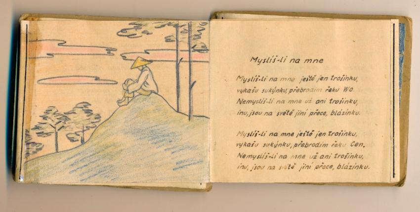 Básně, které si v Ravensbrücku zapisovala Jarmila Gerlichová. Zdroj: Vladimír Gerlich