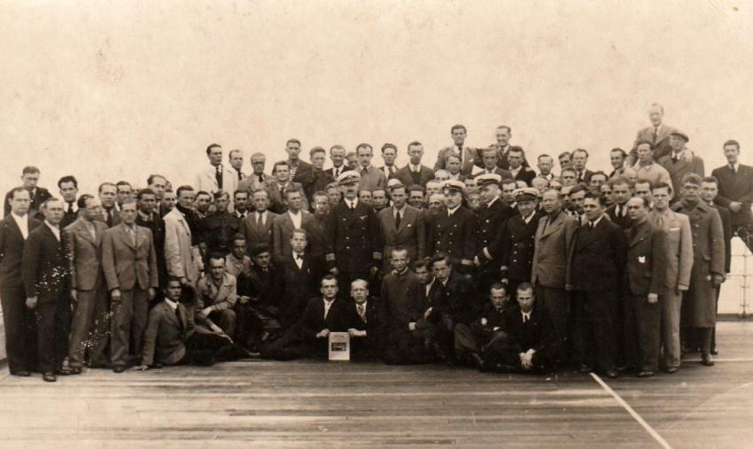 Pasažéři na polské lodi Batory na cestě do Francie v květnu 1939. Zdroj: Marcela Jurasová