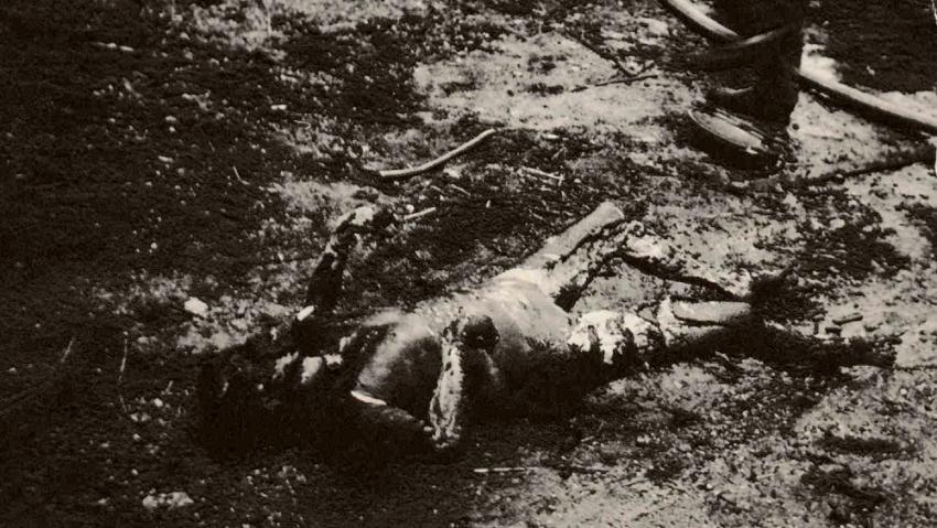 Jedna z obětí hávárie sovětské vojenské cisterny v Desné 21. srpna 1968. Foto: archiv Wernera Neumanna