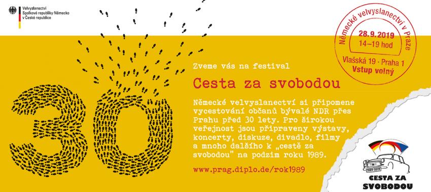Pozvánka na festival Cesta za svobodou, na kterém si budete moci poslechnout vzpomínky Kathariny a Markuse.