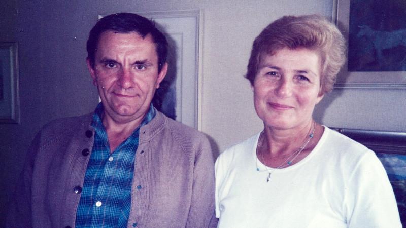 Jan Tesař a Anna Tesařová-Koutná v Paříži v 80. letech.