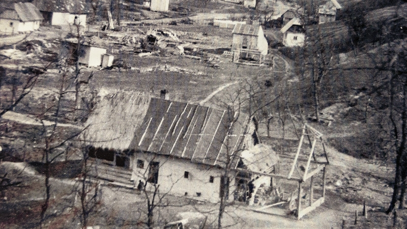 Obec Nižná Pisaná po válce. Foto: obec Nižná Pisaná