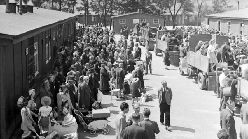 Odjezd Němců z libereckého sběrného tábora 13. července 1946. Zdroj: Paměť národa