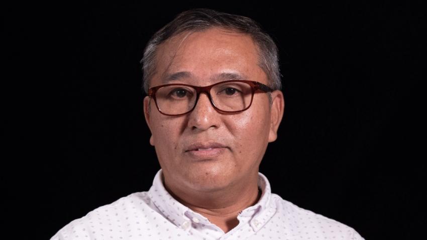 Linn Thant při natáčení pro Paměť národa v roce 2018. Foto: Robert Portel