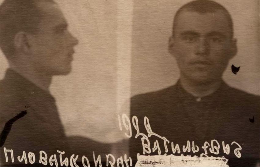Jan Plovajko po zatčení NKVD. Foto: Paměť národa