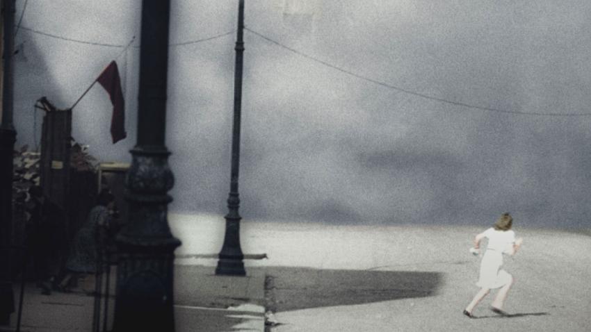 Záběr z povstalecké filmové kroniky. Foto Eugeniusz Haneman, vlastník: Muzeum Varšavského povstání, poskytl: Polský institut v Praze