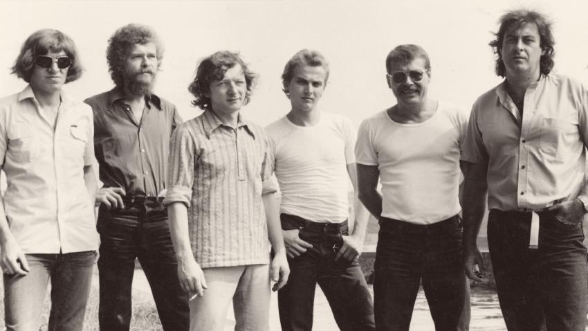 Michal Prokop (vpravo) se skupinou Framus 5 v roce 1983. Foto: Paměť národa