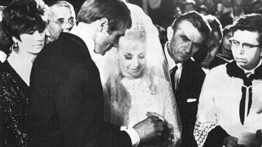 Pohádková svatba Věry Čáslavské a Josefa Odložila v Mexiku. Foto: ČTK