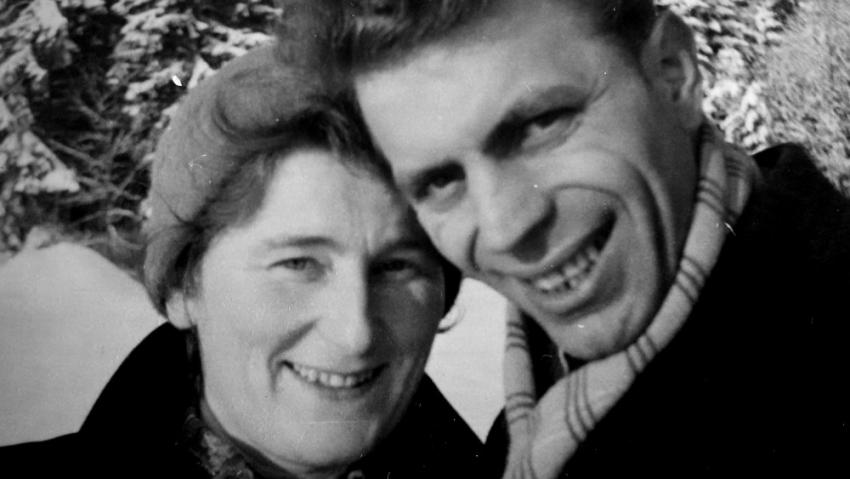 Anton Tomík s manželkou, svatbu měli v roce 1963. Foto: Paměť národa