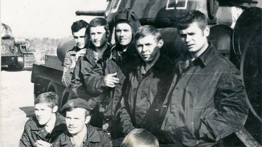 Vojáci z pluku, který vedl Tadeusz Oratowski.